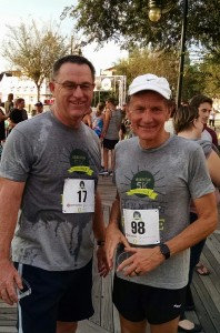 After the race with my good friend Wayne.